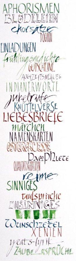 Ausstellung – Experimentelle Kalligrafie in Büchern und Bildern – Bärbel Schulz